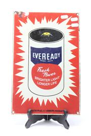 Sale 8670 - Lot 21 - Eveready Reproduction Sign