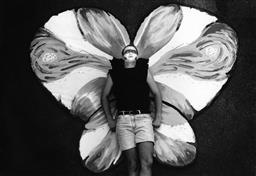 Sale 8912A - Lot 5012 - Butterfly, Sydney Gay  and Lesbian Mardi Gras Parade (1993), 29 x 21 cm, silver gelatin, Photographer: Kate Callas