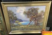 Sale 9004 - Lot 2028 - Peter Whelan Inlet, Early Evening oil on canvas board, 50 x 61cm (frame)