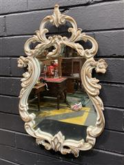 Sale 9051 - Lot 1004 - Ornate French Style Chabby Chic Painted Mirror (56 x 33cm)