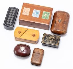 Sale 9190E - Lot 28 - A quantity of trinket cases, largest Width 9cm