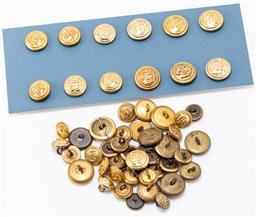 Sale 9190E - Lot 53 - A collection of navy force uniform buttons