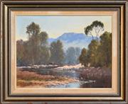 Sale 8297 - Lot 503 - Michael McCarthy (1940 - ) - Afternoon on the Kangaroo River, Kangaroo Valley, 1977 34.5 x 44.5cm