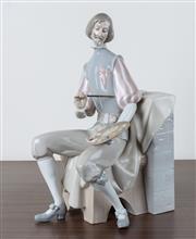 Sale 8486A - Lot 40 - A Lladro figure of a Spanish painter, H 32cm