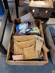 Sale 8582 - Lot 2422 - Box of Tools incl a Toolbelt