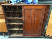 Sale 8859 - Lot 1089 - Mahogany Post Masters Cabinet with Fitted Interior