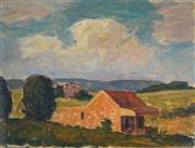 Sale 8992A - Lot 5070 - Artist Unknown (2 works) - Farm House & Country Side 21.5 x 31.5 cm (frame: 39 x 46 x 3 cm)