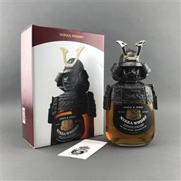Sale 9120W - Lot 1416 - Nikka Whisky 'Gold & Gold - Samurai Limited Edition' Blended Japanese Whisky - novelty bottle in presentation box, 43% ABV, 750ml