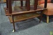 Sale 8289 - Lot 1099 - Coffee Table with Rattan Shelf Below