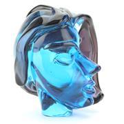 Sale 8356 - Lot 84 - Murano Licio Zanetti Signed Blue Art Glass Bust of a Lady