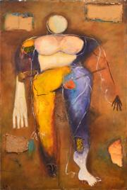 Sale 8791A - Lot 5088 - Stanley Perl (1942 - ) - Abstract Lady 93 x 61cm