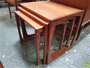 Sale 8451 - Lot 1088 - G-Plan teak nest of tables
