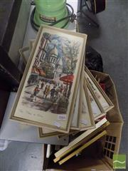 Sale 8483 - Lot 2066 - 5 Prints of Paris incl Place de la Concorde, Le Moulin Rouge, Place de Tertre, LArc de Triomphe & Pont Alexandre III