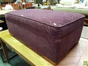 Sale 8562 - Lot 1076 - Purple Fabric Ottoman