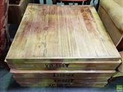 Sale 8601 - Lot 1111 - Set of Eight Timber Table Tops - XP 80T (D:3.5 L:80 W:80cm)