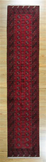 Sale 8643C - Lot 35 - Afghan Turkman Runner 380cm x 80cm