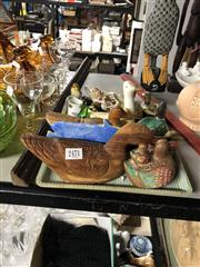 Sale 8819 - Lot 2471 - Collection of Ceramic and Glass Ornaments Together with a Tray of Plaster Ducks