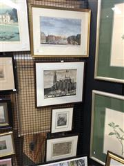 Sale 8841 - Lot 2045 - Group of (4) Antique engravings illustrating The Hage by Various Artists