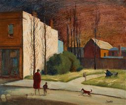 Sale 9125 - Lot 508 - Terence (John) Santry (1910 - 1990) Glebe oil on board 24 x 29 cm (frame: 42 x 47 x 3 cm) signed lower right