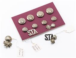 Sale 9190E - Lot 45 - A small collection of Southern Tasmanian Artillery uniform buttons
