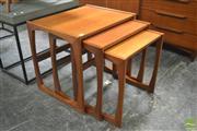 Sale 8338 - Lot 1041 - G-Plan Teak Nest of Three Tables