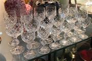 Sale 8304 - Lot 79 - Bohemia Crystal Set Of Six Liquor Glasses With 2 Similar Sets (18)