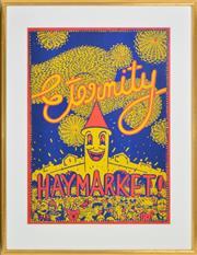 Sale 8382 - Lot 538 - Martin Sharp (1942 - 2013) - Eternity Haymarket 85.5 x 62.5cm