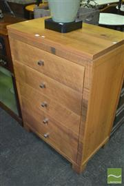 Sale 8383 - Lot 1345 - Hycraft Modern Timber Chest of Five Drawers