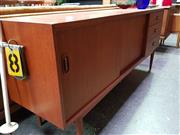 Sale 8476 - Lot 1029 - Austin Suite Teak Sideboard with Sliding Doors