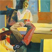 Sale 8467 - Lot 512 - Dave Brewer (XX) - Seated Figure, 1996 122 x 122cm