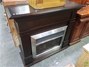 Sale 8601 - Lot 1464 - Timber Surround Electrical Fireplace (Remote in office)