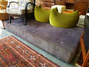 Sale 8676 - Lot 1353 - Upholstered Day Bed & Three Green Cushions