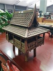 Sale 8672 - Lot 1010 - Thai Miniature Wooden Pole House