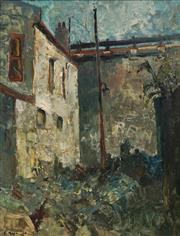 Sale 8704A - Lot 5094 - Edward Hall (1930 - ) - Residences, The Rocks Sydney, 1964 60 x 45cm