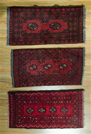 Sale 8717C - Lot 77 - 3 x Afghan Turkman 60cm x 90cm