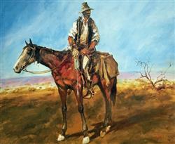 Sale 9091A - Lot 5025 - Hugh Sawrey (1919 - 1999) - Sid Kidman Cattle King 45 x 54 cm
