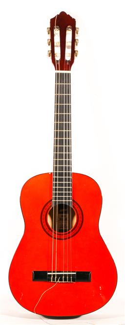 Sale 9136 - Lot 21 - An Ashton CG12AM small acoustic guitar with strings, tuner and picks