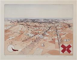 Sale 9161A - Lot 5021 - TIM STORRIER (1949 - ) - Points to Slash with Interior Rag, 1976 40 x 60 cm (frame: 76 x 90 x 3 cm)