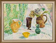 Sale 8440A - Lot 38 - Grace Cossington Smith - Still Life with Black Vase No 2 48 x 65cm