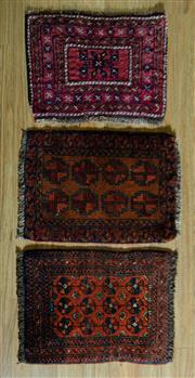Sale 8680C - Lot 81 - 3 x Persian Door Mats 90cm x 60cm