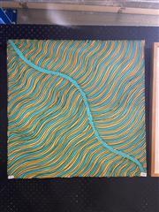 Sale 8932 - Lot 2009 - Jesse Bird - Untitled, acrylic on canvas, 60 x 60 cm, signed verso, Ambantu Galllery cat#  37628