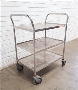 Sale 9121 - Lot 1084 - Chrome medical trolley (h:103 w:78 d:51cm)