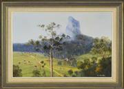 Sale 8323A - Lot 26 - John Hansen (active 1980s) - Glasshouse Mountain 49.5 x 75cm