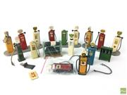Sale 8559A - Lot 67 - Vintage Model Petrol  Bowsers, Dunlop Tires, and Oil Cans, Made in England.
