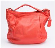Sale 8640F - Lot 39 - A Furla red leather shoulder bag, H 34 x W 40cm