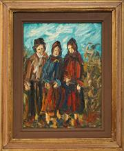 Sale 8755A - Lot 5096 - Ampelio Lorenzo Garini (1916 - 1998) - Three Folks 39 x 29cm