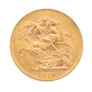 Sale 8855H - Lot 69 - 1919 gold sovereign weight approx 7.95g, P above 1919