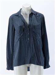 Sale 8910F - Lot 9 - A Massimo Dutti blue silk blouse, size 36
