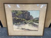 Sale 9028 - Lot 2066 - J.R Kirkland Coastal Sand, Bega, watercolour, frame: 58 x 65 cm, signed lower right