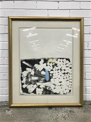 Sale 9056 - Lot 1013A - Artist Unknown Chalk Landscape 73 2/8 print on paper in gilt frame (100 x 82cm incl frame)